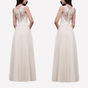 Dresses & Skirts - Open back lace tulle Wedding Gown, ivory, 2-12